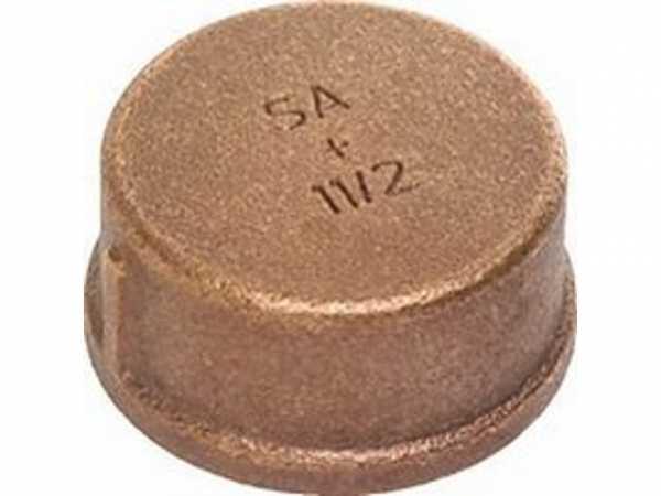 Kappe Rotguss, Nr.3301, 2 IG Kupferrohre Schraubfittings