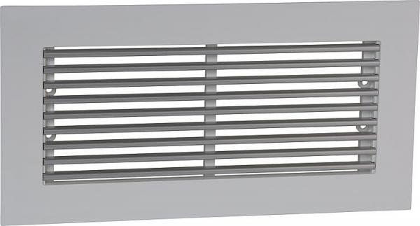Abdeckgitter-Set Design, Begehbar Rahmen in weiß Kunststoff, Design-Stäbe Alu natur