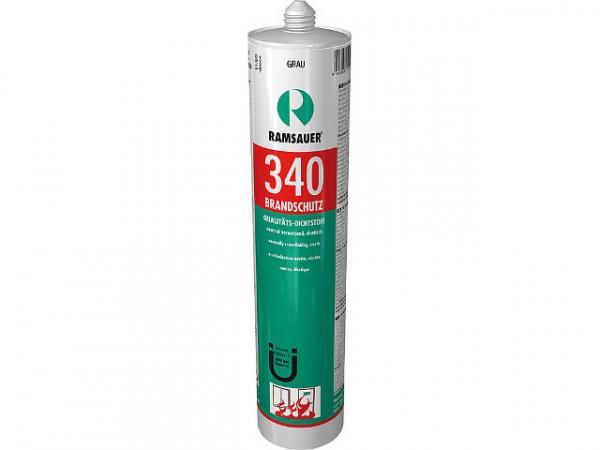 RAMSAUER Hitzefest B1 340, transparent, hitzebeständige neutrale 1-K-Silicondichtmasse, 310 ml, 1600301
