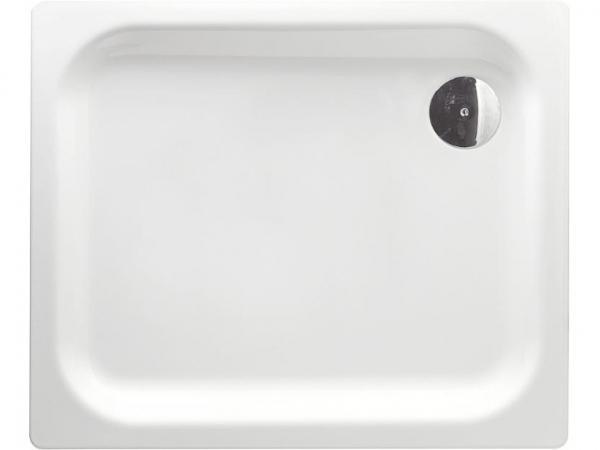 Duschwanne EDURA weiß, BxHxT:900x40x750mm Stahl-Emaille