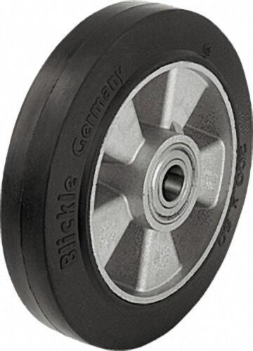 BLICKLE Schwerlast Vollgummireifen, Alukörper ALEV 125/15K tragfähigkeit 250 kg Rad D= 125mm, Achslo