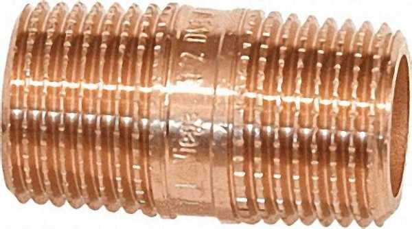 Rotguß-Gewindefitting Rohrdoppelnippel Typ 3530R, 1/2''x180mm (A/A)