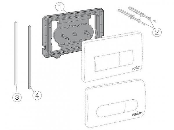 VALSIR PVC-Rohr, weiß 6x4x360 mm, Bild: Position 3
