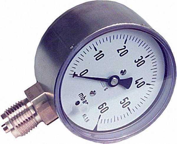 Kapselfedermanometer KP 80.3 0-60 mbar