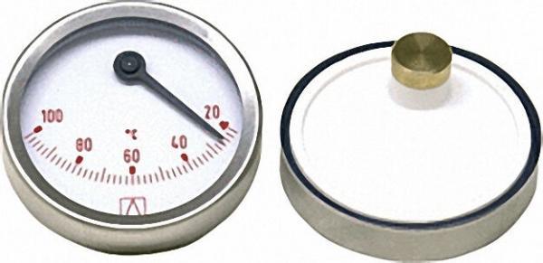 AFRISO Bimetall-Thermometer D=63mm exzentrisch, 20-100°C, rot