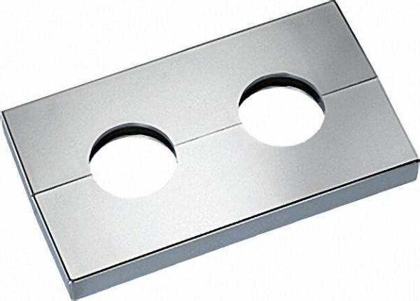 Doppelrosette Typ Kopenhagen Chrom glänzend - 19mm