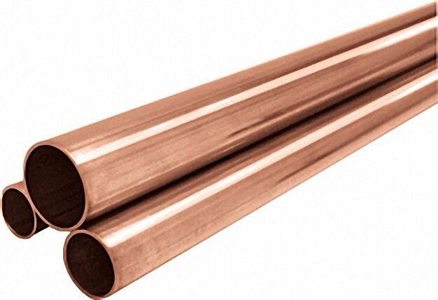Kupferrohr in Stangen, RAL/DVGW 28 x 1,0mm, halbhart 10 Rohre x 5m im