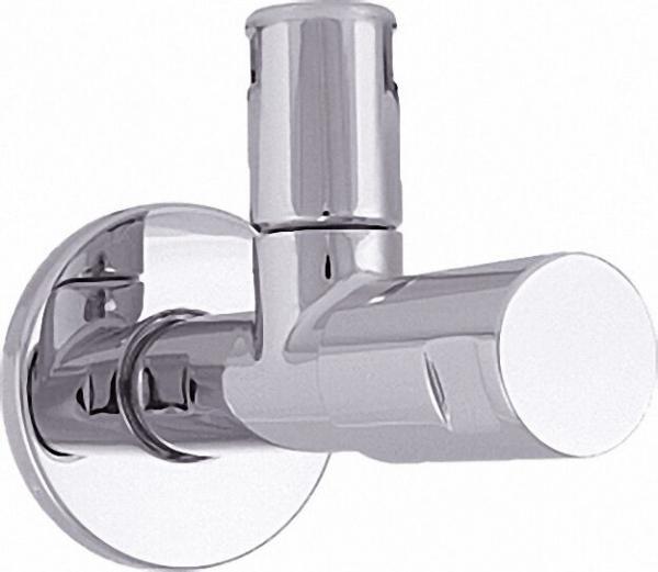 Eckventil Design-tec classic line DIN DVGW, hochglanz verchromt selbstdichtendes Anschlussgewinde