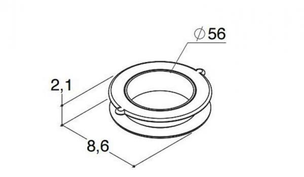 DANSANI 9513 Abdeckrosette 56 mm