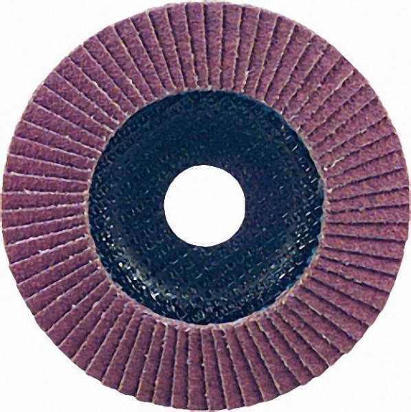 Lamellenschleifteller INOX Spezialkorund Körnung:ZK 40 115mm / Baumwollgewebe