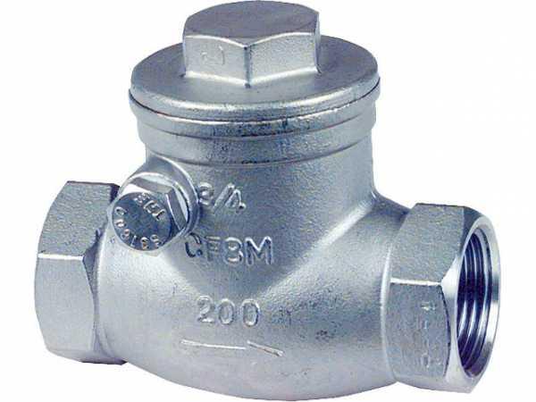 Edelstahl Gewindefitting Muffenrückschlagklappe aus Edelstahl Werkstoff 1.4408 PN 14 3/4'' A-690 T