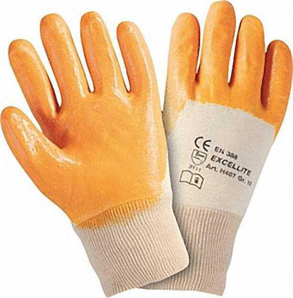 Arbeitshandschuh gelb, Baumwoll-Innentrikot Größe: 9 1 Paar