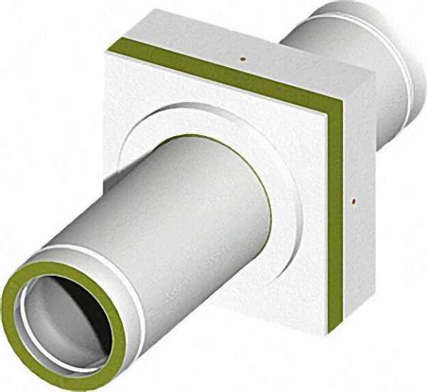 Brandschutzdurchführung für doppelwandige Rohre 130mm mit 30mm Isolierstärke, Wanddicke:200-250mm