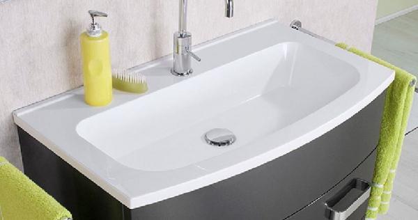 LANZET 7230012 S2 Guss-Waschtisch, 80x2x47 cm, weiß