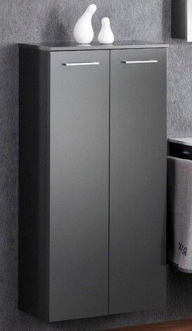 LANZET 7126712 Midi-Schrank 60/122/30 Grafit/Grafit 2 Türen