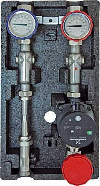 STRAWA Aufbaugruppe Typ HK3-WMZ für strawi Kesselverteiler VA mit Isolierung