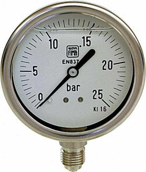 Manometer Chemie 0-6 bar, 63 mm für G1/4