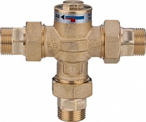 Easyflow Wood 746 Rücklaufanhebeventil 60°C, mit Verschraubung DN20 (3/4'')AG