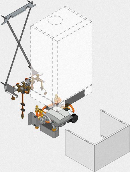 VIESSMANN ZK02586 Unterbau-Kit mit Mischer für Gas-Brennwertkombigeräte (Vitodens 200-W)