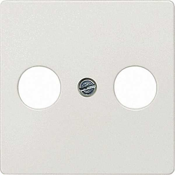 Abdeckplatte für TV/SAT-Anschluss titanweiß/ Schutzart IP20 2-Loch-Ausführung / 1 Stück