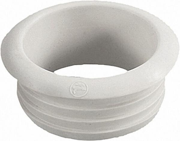 Gummi-Spülrohrverbinder für Tiefhängende-Spülkasten ohne Rosette, hell