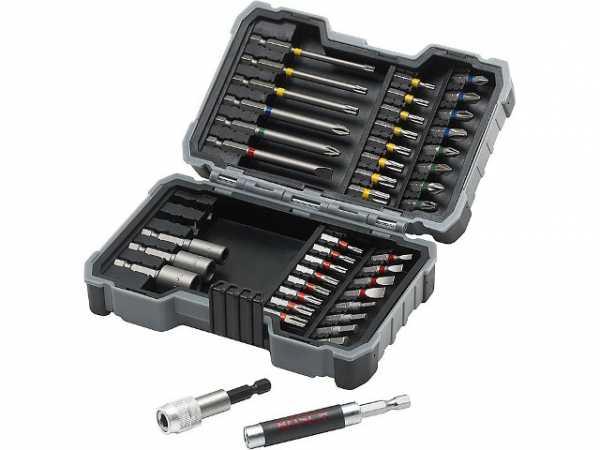 Bosch Bit- und Steckschlüssel-Set 43-teilig mit Farbcodierung Bit-Box Bitset