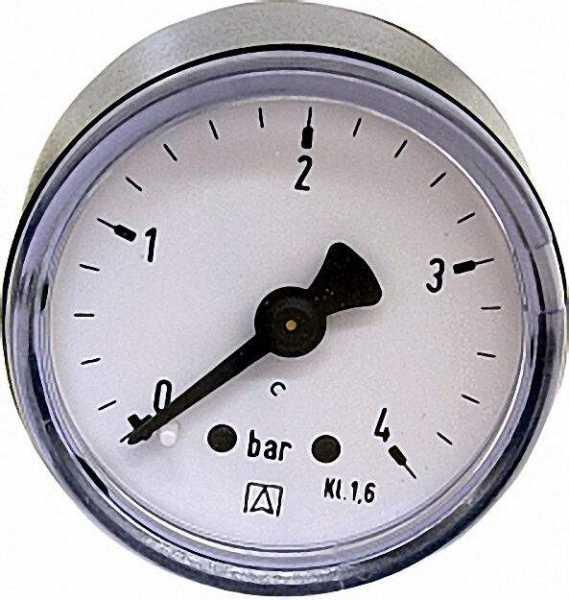 Manometer 0-1,6 bar 40mm für G1/8