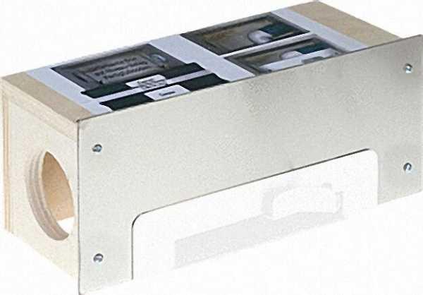 Einbaubox für Sockel-Einkehrdüse mit Edelstahl-Blende