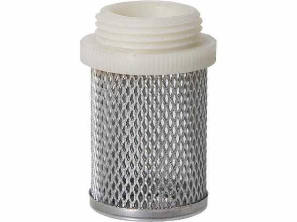 Saugkorb für Rückschlagventil 1 1/4'' mit Kunststoffgewine
