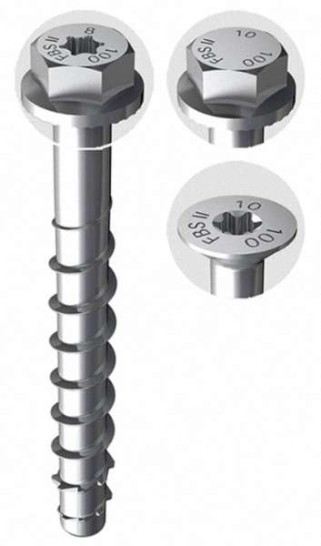 7,5x100mm VPE=50 Stück Betonschraube Heco Multi-Monti TimberConnect TX 30