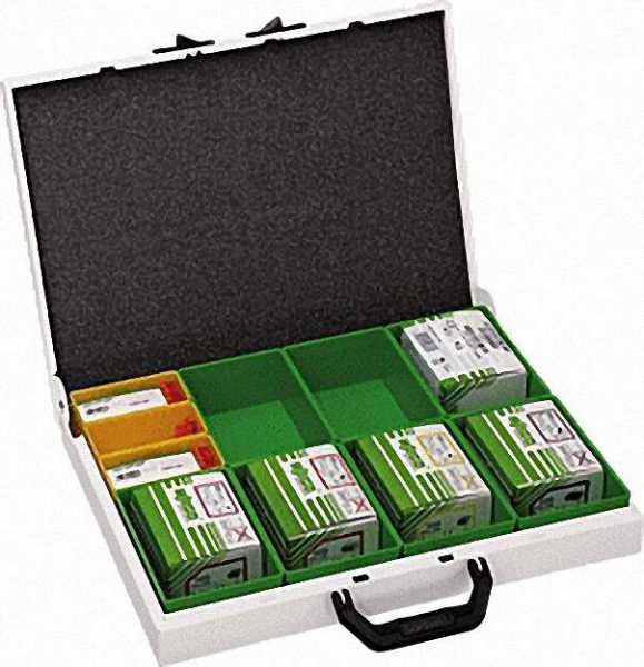 WAGO Variobox-Sortimo Dosenklemmensortiment Metall-Koffer/ 44 x 33 x 6, 6 cm