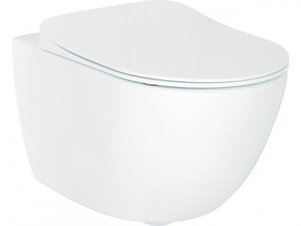 Wand-Tiefspül-WC Elanda aus Keramik, weiß, 355x340x515mm
