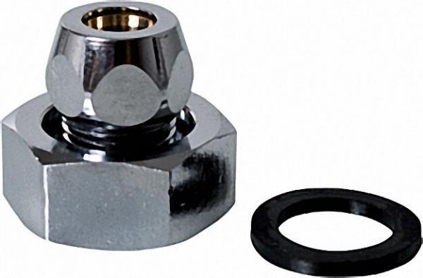Zubehör-Waschtischzähler Verschraub. R3/8''x 10-R3/4'' für Cu-Rohr 10mm