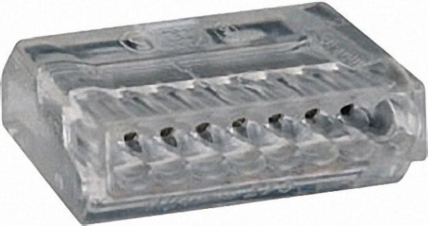 Verbindungsdosenklemmen 273 8-Leiter-Klemmen, transparent 8x0, 75-1,5mm², VPE=50