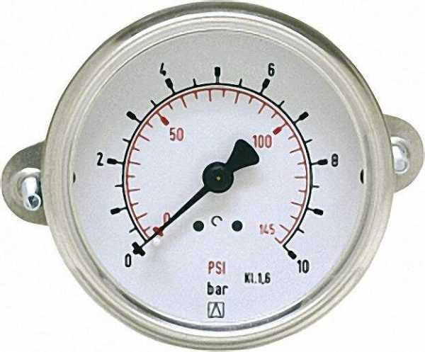 Manometer in Stahlblechgehäuse mit Dreikant-Frontring, -1/0bar40mm für G1/8