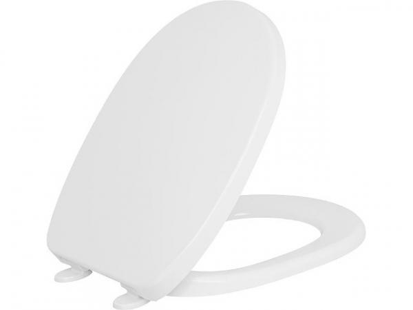 WC Sitz Twist 'slowclose' antibakteriell weiß aus Durolpast mit Universal-Absenkscharnier