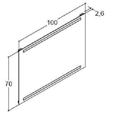 DANSANI 91300 Spiegel mit horizontal intergrierter Beleuchtung 100 cm inkl. Sensorschalter