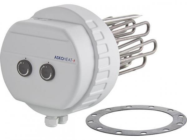 Flanschheizkörper 10.0/7.5/5.0 KW 3x400 V AC, Drm 280 mm Einbaulänge: 300 mm