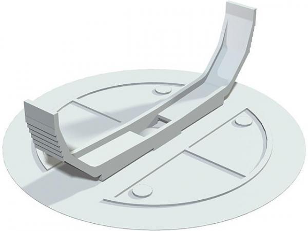 Federdeckel D=95mm Typ UV 80 FD, weiß / 1 Stück