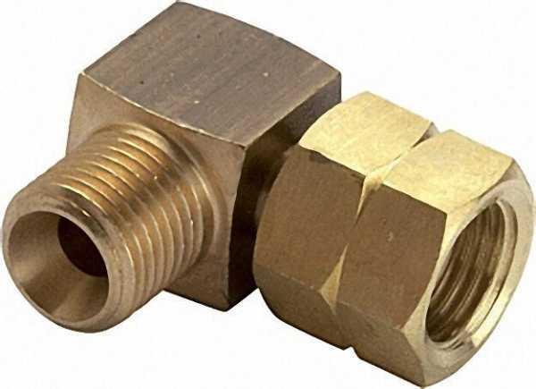 Verbindungsstück 90° G1/4LH-Überwurfmutter x G1/4LH-KN