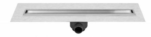 ESS BD-100-Z Edelstahl-Duschrinne 100 mm Basic Drain mit Zero Edelstahlabdeckung