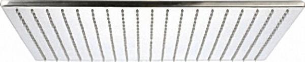 EVENES Ultraflache Kopfbrause Edelstahl gebürstet 400x270mm ohne Brausearm
