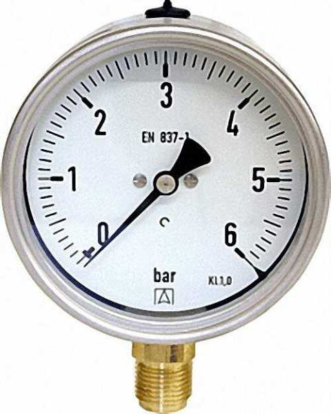 Manometer Robust, 0-40 bar, 100 mm für G1/2