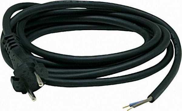 Anschlussleitung H07RN-F 2x1,05,0m, schwarz