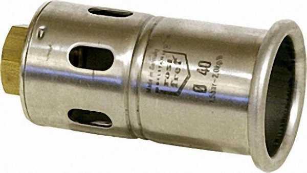Brennerkopf aus Edelstahl M 20 x 1i / Dm 40mm