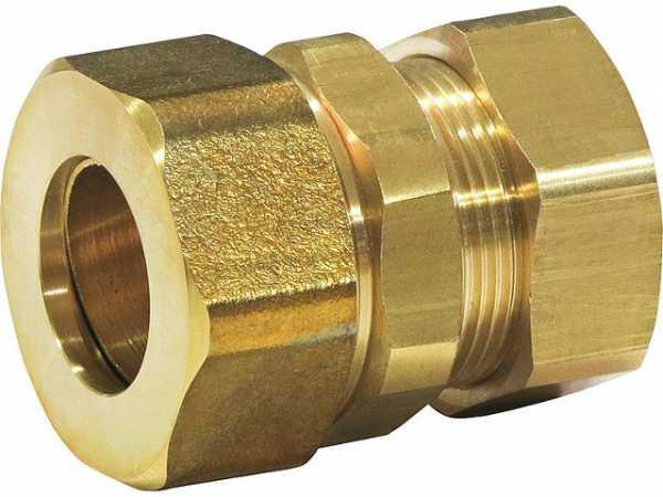 QuickFix-Pro Wellrohrverschraubung Steckfitting, Klemmringverschraubung FlexrohrxCu-Rohr DN16x15 mm