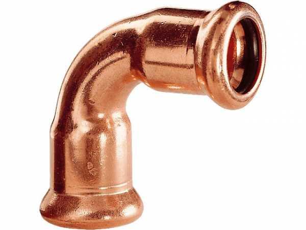 Kupfer Pressfitting Bogen 90° i/i D: 15mm Typ 7002A