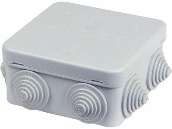 Abzweigkasten HP 80 Hart-Plastik, flammwidrig, grau 80x80x50mm, IP55, halogenfrei