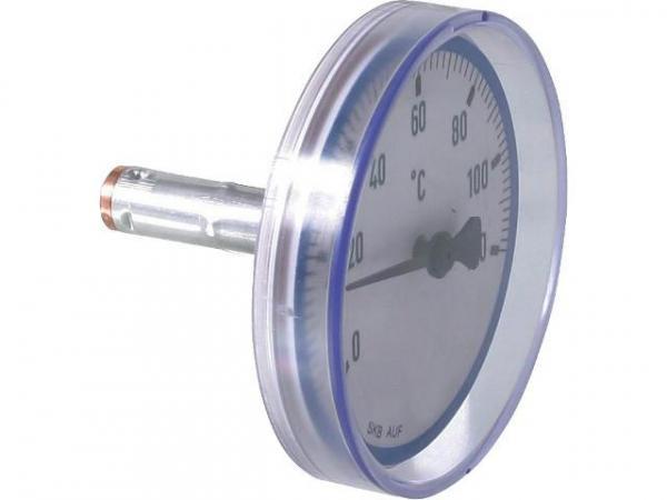 Rücklaufthermometer blau für Kugelhähne Easyflow
