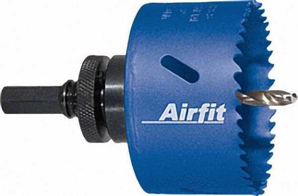 AIRFIT Kreisschneider HSS Bimetall komplett für Kunststoff Holz und Metall / D 76mm